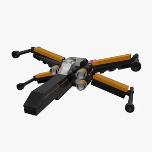 lego poe s xwing 3d 3ds