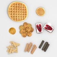 waffle pancake set model