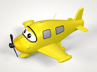 Cartoon Airplane Toy