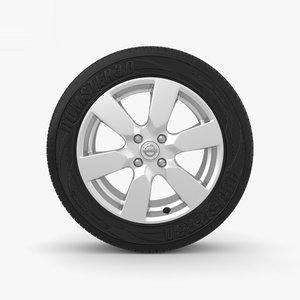 3D nissan rim wheel model