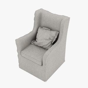 villevenete chair beverly 3D model