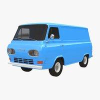 3D econoline e-100 1961 model