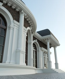3D house village architecture