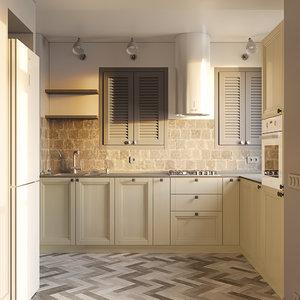 kitchen bosch oven 3D
