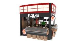 3D pizzeria model