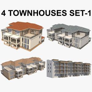 townhouse house 3D