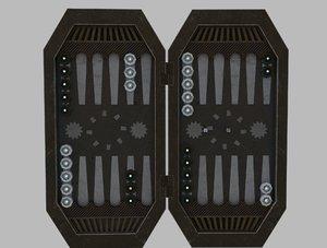 3D sci fi backgammon