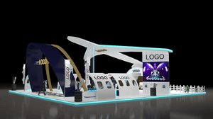 3D airline exhibition stand