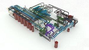 3D industrial plant model