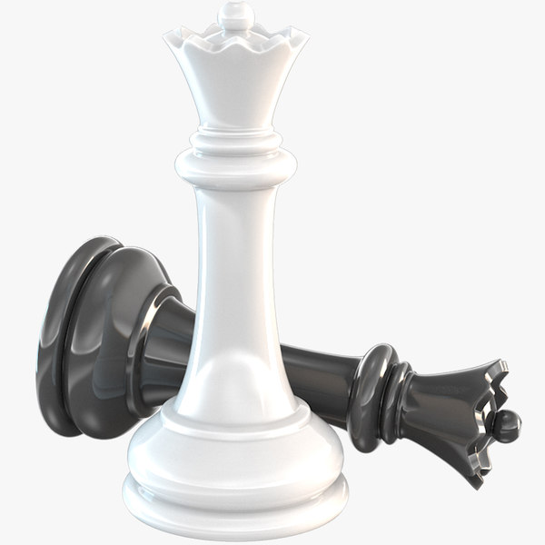chessmen queen chess 3D model