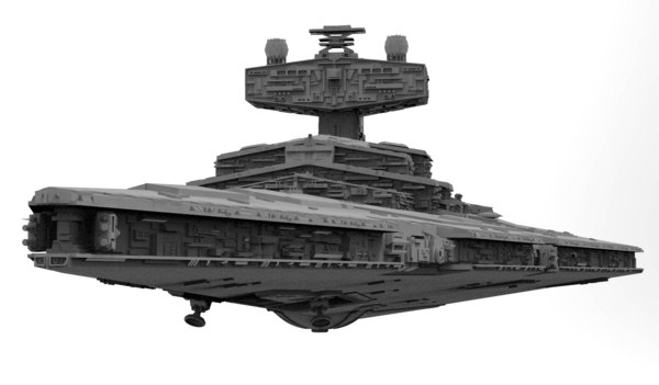 3D imperial star destroyer starship