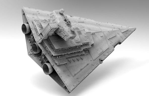3D model imperial star destroyer starship