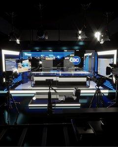 studio television 3D model