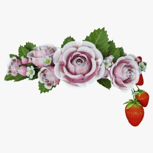 circlet flowers 3D model