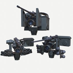 m153 crows ii green 3D model