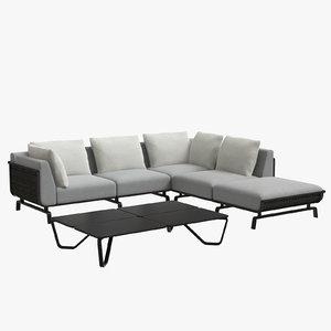 tortuga sectional sofa 3D model