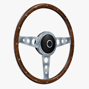 3D model retro steering wheel