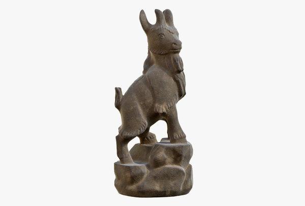 3D sculpture goat model