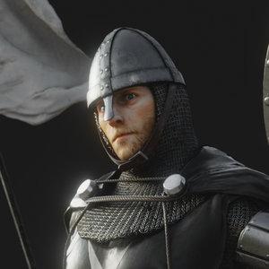 knight hospitaler 3D model