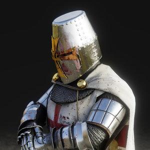 3D templar knight