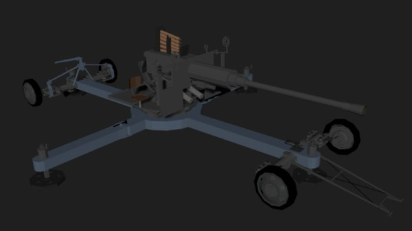 3D bofors l60 isometric