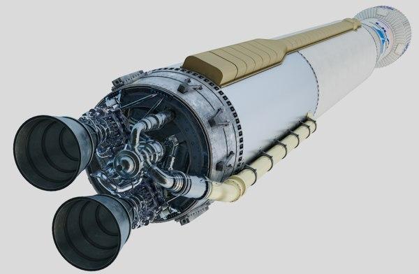 atlas rocket launch 3D model
