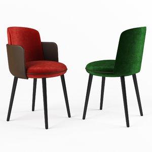 3D model merwyn chair wittmann
