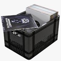 crate vinyl records model
