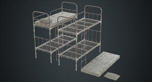 3D bunk bed 2b model