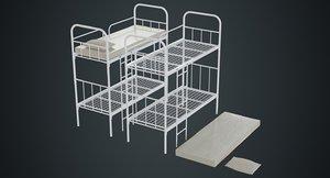3D bunk bed 2a model