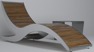 3D loma chaise lounge model