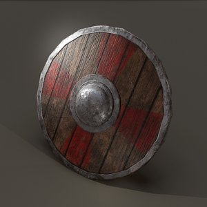 3D wooden shield
