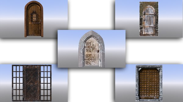 3D dungeon doors medieval model