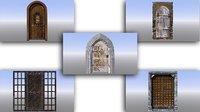 Medieval Dungeon Door Five Pack