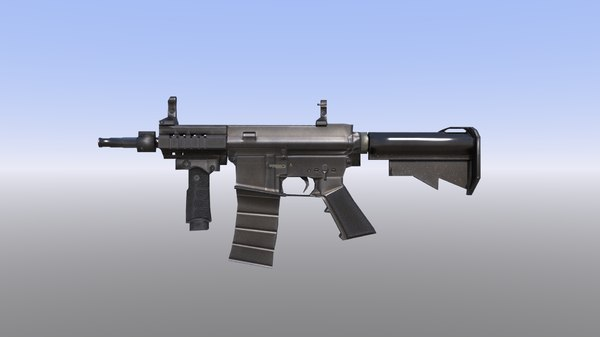 3D m4 assault rifle low-poly