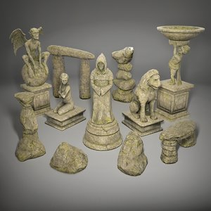 statues pack model