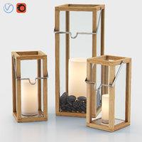 3D crosby lanterns pillar candles model