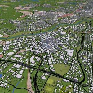 minneapolis city street 3D model