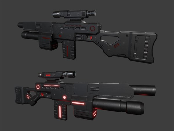 3D scifi weapon model