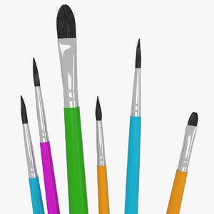 6 brush painting model