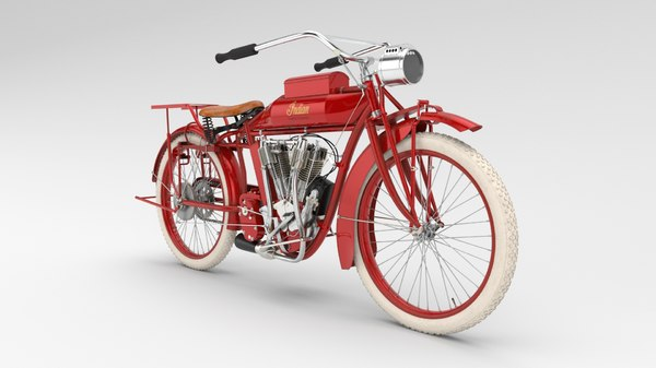 vintage motorcycle indian bigtwin 3D model