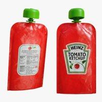 ketchup sachets 3D