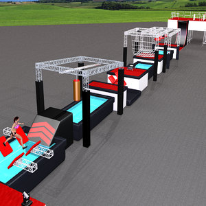 3D parkour ninja obstacle course