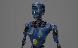3D robot ledi001 woman