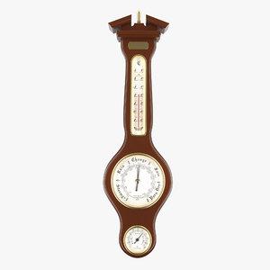weather meter including barometer 3D model
