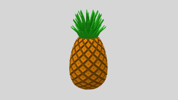 cartoon pineapple model