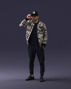 scanned hiphop man 3D