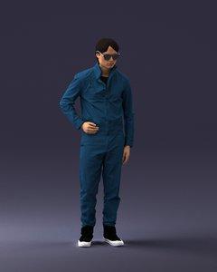 3D visualization man model