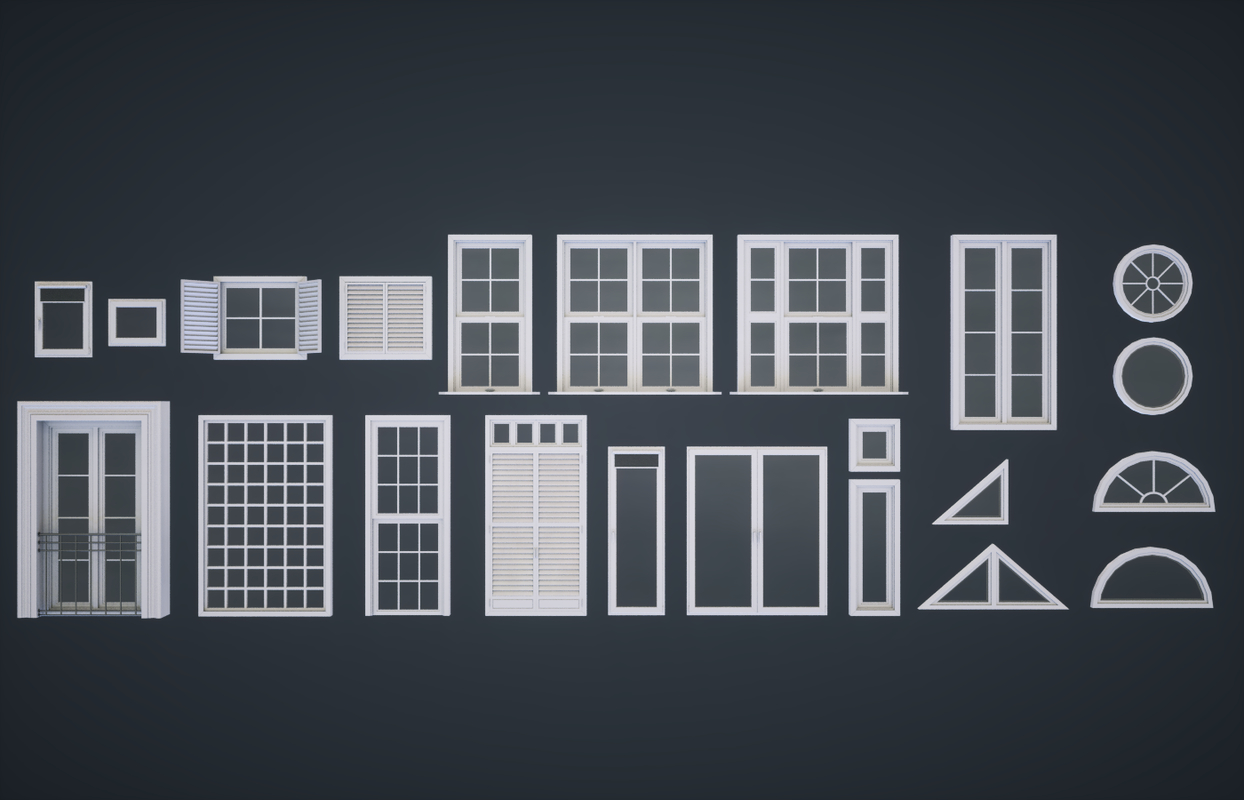 modular windows 3D model