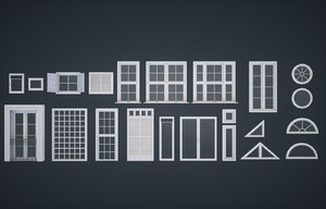 modular windows 3D model